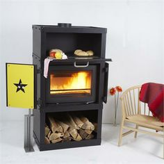 Contemporary Wood Stove from Wittus - Fire by Design