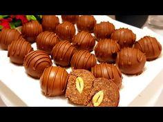 Domáce čokoládové pralinky bez masla apečenia! Toto nosím návšteve namiesto bonboniéry – radynadzlato.sk Caramel Apples, Cookie Recipes, Nutella, Almond, Deserts, Food And Drink, Sweets, Cookies, Baking