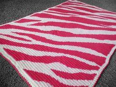 Zebra Blanket Crochet Chart and Pattern - via @Craftsy