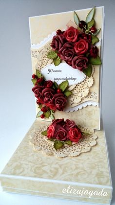 ***   Change out colors of flowers. ***  50 rocznica pożycia małżeńskiego