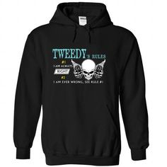 TWEEDY - Rule8 TWEEDYs rules - #funny tshirt #big sweater. OBTAIN LOWEST PRICE => https://www.sunfrog.com/Names/TWEEDY--Rule8-TWEEDYs-rules-qhwimhvijo-Black-44145413-Hoodie.html?68278