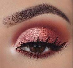 Pretty eye makeup for brown eyes make up eyeshadow makeup, pretty Pretty Eye Makeup, Makeup Eye Looks, Beautiful Eye Makeup, Makeup For Brown Eyes, Glam Makeup, Makeup Inspo, Makeup Inspiration, Makeup Ideas, Makeup Box