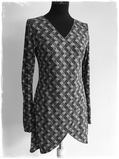 Schnittmuster Longshirt CROSSOVER und Schnittmuster Shirt DOUBLE CROSS, Gr.S_XL