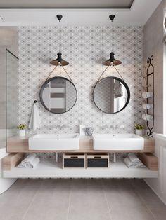 Modern bathroom design 720013059154554291 - salle-de-bain-scandinave-inspiration-boho-chic Source by elisamounin Bathroom Storage, Bathroom Interior, Modern Bathroom, Small Bathroom, Bathroom Ideas, Bathroom Vanities, Bathroom Rugs, Gold Bathroom, Design Bathroom