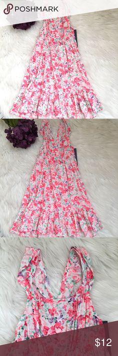 Girls Lightweight Floral Ruffle Hem Maxi Dress Girls Lightweight Floral Ruffle Hem Maxi Dress  New with tags  Size 18M Cherokee Dresses