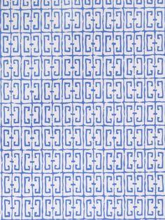 Dana Gibson Fret Wallpaper For: Stroheim Pattern: 4760701 Fret Color: Cobalt Price $80.00