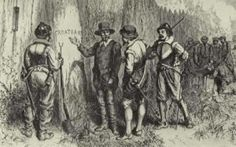 """Perhaps the most mysterious case of mass disappearance is the so-called """"lost colony"""" of Roanoke Island. In 1587 a group of 114 people settled the island in an attempt to establish a permanent colony in the New World, but a bitterly harsh growing season and fear of the local Indian tribes led the group to send their leader, John White, back to England for assistance."""