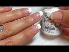 Easy Christmas nail art designs / DIY: Christmas French Manicure with dotting tool tutorial - YouTube