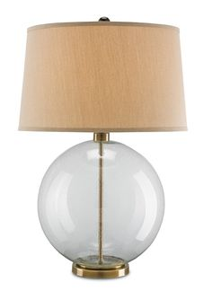 6589 Courtland Table Lamp H 31 $570 #ClearGlassBase