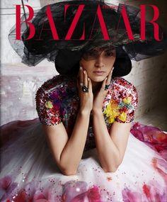 Kendall Jenner Is Almost Unrecognizable In New Harper's Bazaar Spread via @WhoWhatWear--- in Karl Lagerfeld