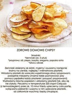 Przepis na zdrowe, domowe chipsy...