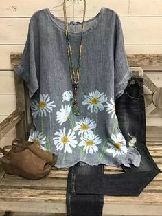 Shirts & Tops, Shirt Blouses, Print Shift, Plus Size Chic, Tunic Designs, Linen Tunic, Tunic Tops, Types Of Sleeves, Floral Prints