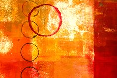 Orbit Abstract Painting by Nancy Merkle