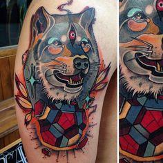 My first tattoo. Done by Shio Zaragoza of Blessed Tattoo in Zaragoza, Spain