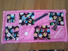 Activity blanket I made for elderly people with dementia or alzheimer's. Helps keep their hands and minds busy.