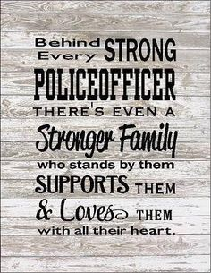 Behind Every Police Officer Family Loves Them Large Wood Sign, Canvas Wall Hanging, or Canvas Banner - Christmas, Father& Day by HeartlandSigns on Etsy Police Wife Life, Police Family, Firefighter Family, Firefighter Quotes, Firefighter Decor, Volunteer Firefighter, Firefighter Paramedic, Firefighter Pictures, Female Firefighter