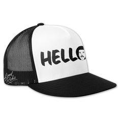 050d9cbfded Check out Lionel Richie Hello Trucker Hat on  Merchbar. Lionel Richie