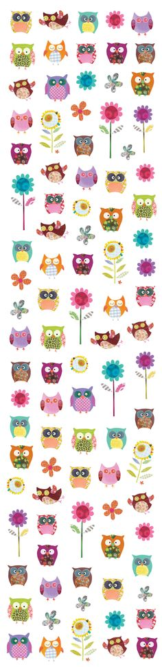 The lovely stickers in our Hootiful Owls stationary box!