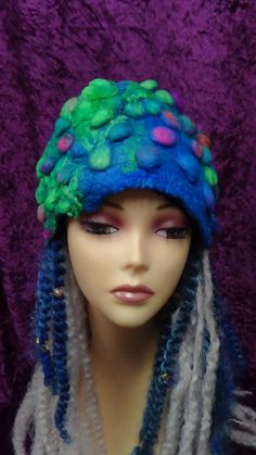 Felted hat, Cute, winter, hat, hand made, in USA, Organic, Fairy hat, wearable art, costume art, fantasy hat, whimsical hat, gift by rafaelart on Etsy