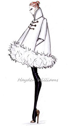 Hayden Williams Fall/Winter 2012.2013 RTW collection: Preview Fashion illustration.....a lost art.