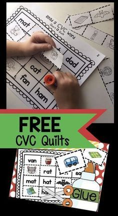 Hands-on and fun way to practice CVC words - students cut and paste to create their CVC quilts! Perfect literacy center.