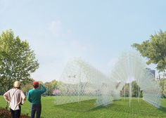 New York installation will be made of recycled wire coat hangers