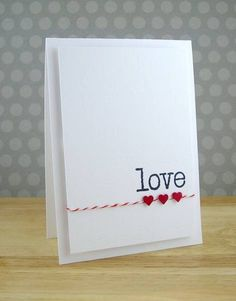 Who says a great card has to be complicated......lovely card.