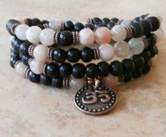 Independence Sunstone 108 Om Mala wrap bracelet by LifeForceEnergy, $39.00