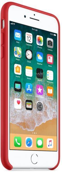 غطاء سيليكون آيفون 8 بلس أحمر Electronic Products Tablet Phone