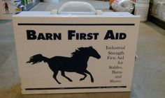 Stable Supplies : Barn First Aid Kit Great for the barn or trailer! Great gift for a new horse owner!