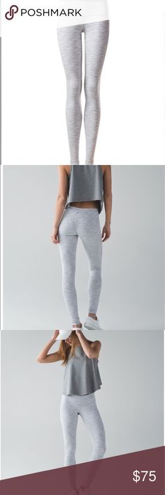 """6b6ca3b8c3475c lululemon wunder under pant III Size six full length Lyon wunder unders in  color """"Wee Are From Space Nimbus Battleship"""". Worn once, in like new  condition ..."""