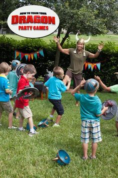 How to Train Your Dragon Party Games #dragons #party #howtotrainyourdragon