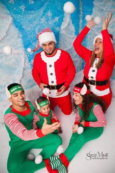 christmas family photos elf costumes snowball fight pajamas - How Late Is Target Open On Christmas Eve
