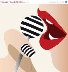 Ilustracion de Moda  Labios Sensuales  Mujer  Sexi por DigitalDraft