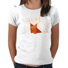 Cute #Origami Fox Is Happy Light Tee #Shirt $19.95