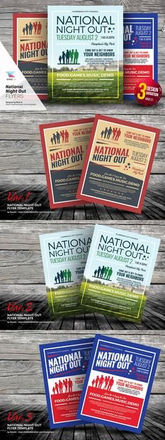National Night Out Flyer Templates By Kinzi21 On Creativemarket