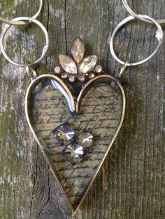 Soldered+Heart+Bezel+Necklace+with+Vintage+by+TheRustyOwls+on+Etsy,+$48.00
