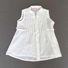 Peace&Love. Blusa blanca con jaretas