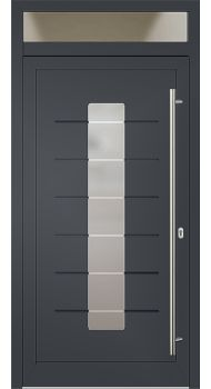 Aluminium Haustür Modell 3061/11/01 anthrazitgrau Haustüren mit Oberlicht