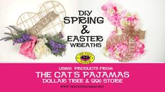 DIY Dollar Tree and The Cat's Pajamas Framed Up Easter and Welcome Wreath