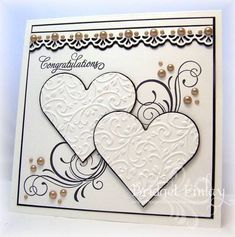 Congrats Sara and Dave by bfinlay - Cards and Paper Crafts at Splitcoaststampers Wedding Cards Handmade, Greeting Cards Handmade, Card Making Inspiration, Making Ideas, Wedding Shower Cards, Card Wedding, Wedding Reception, Engagement Cards, Wedding Engagement