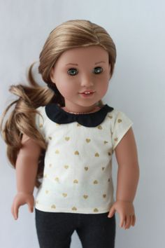 Peter Pan Collared Shirt for American Girl Dolls by TheRaccoonMask on Etsy  $10.00