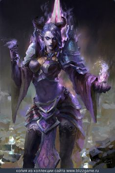 A beautiful and mysterious Draenei Mage from World of Warcraft