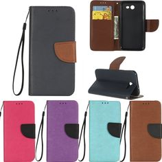 PU Leather Cases sFor coque Samsung Galaxy J3 2017 Case For Fundas Samsung J3 2017 Case Cover Hit color Flip wallet Phone Bags
