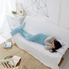 See related links to what you are looking for. Blanket Yarn, Blanket Cover, Merino Wool Blanket, Crochet Mermaid Tail, Mermaid Tail Blanket, Unicorns, Mermaid Bedding, Luxury Bedding Collections, Sleeping Bag