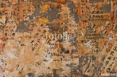 "Download the royalty-free photo ""Layers of paper peeling off a wall, Kunming, China"" created by Mint Images at the lowest price on Fotolia.com. Browse our cheap image bank online to find the perfect stock photo for your marketing projects!"