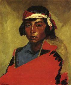 robert henri paintings ~ . Buck of the Tesuque Pueblo Painting by Robert Henri ~ Oil Painting