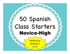 50 Activities to start off (or end) your class on a variety of Spanish 2/3 topics.