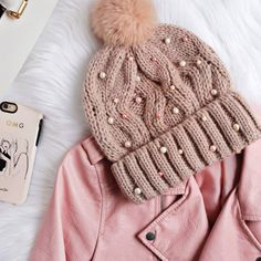 Give any beanie a cute makeover with beads!