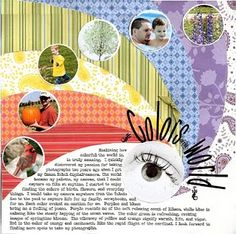 Scrapbook page by Pam Callaghan